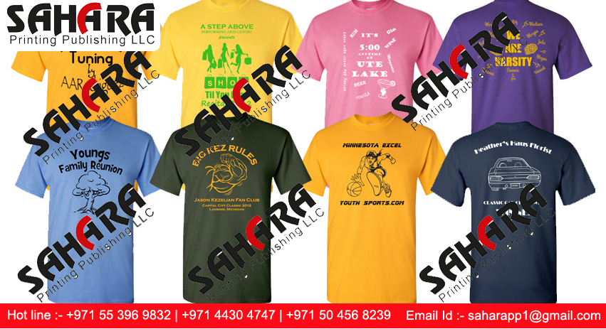 Promotional T Shirts printing in Dubai