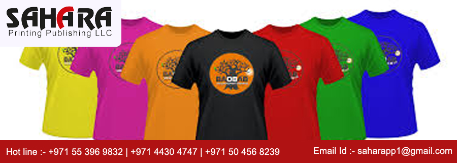 T shirt embroidering in Dubai